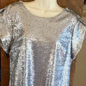 Charming Charlie's Woman's Silver Sequin Dress